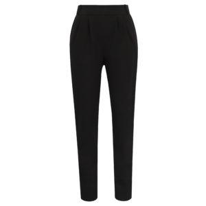 spodnie z wysokim stanem czarne chic