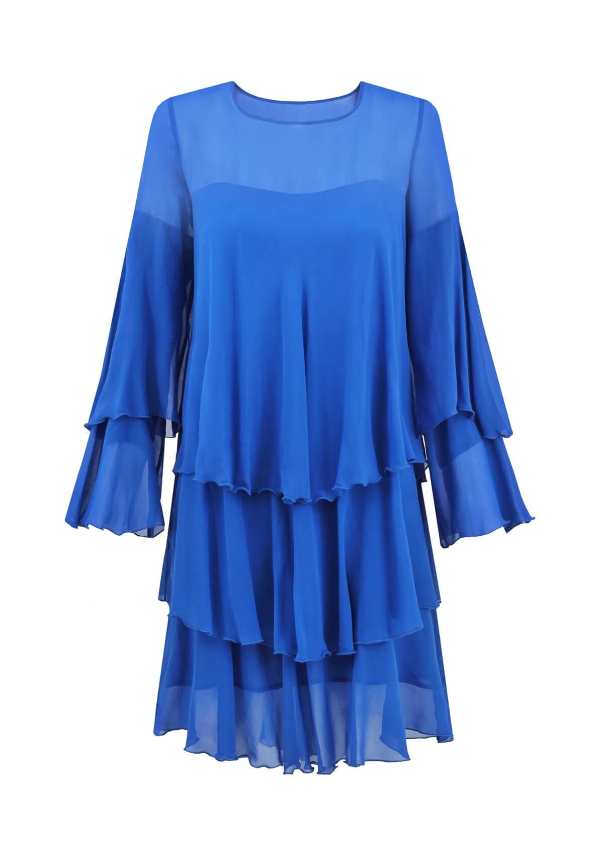 sukienka jedwabna yasmine niebieska