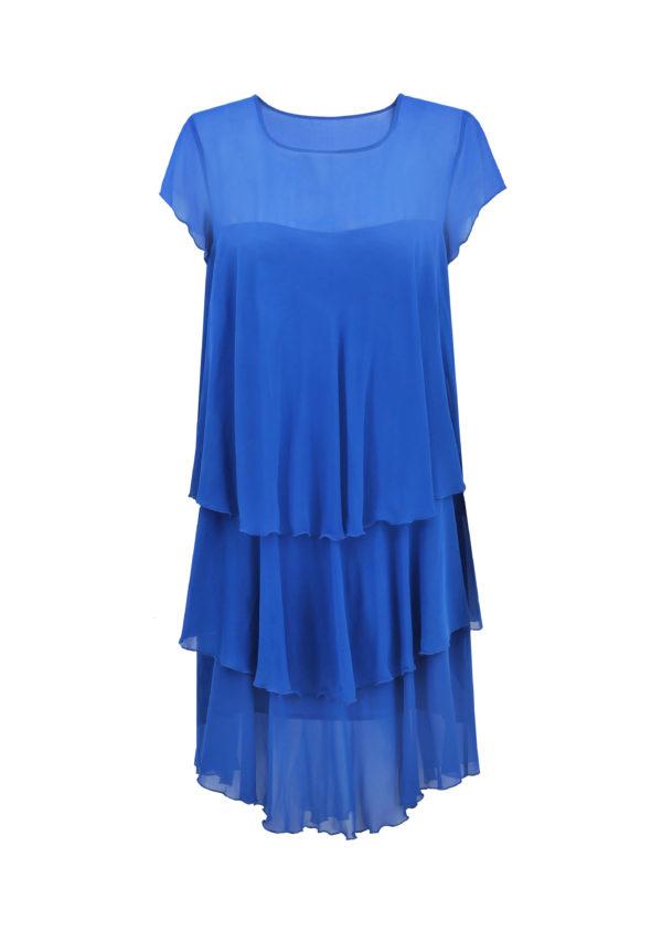 jedwabna sukienka yasmine niebieska