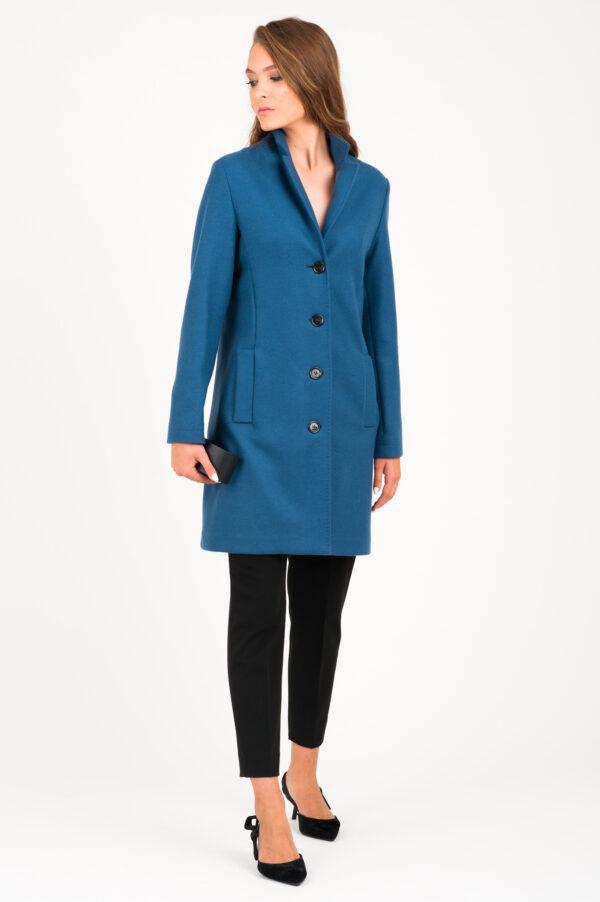 płaszcz kaszmir niebieski