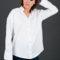 Biała damska koszula oversize
