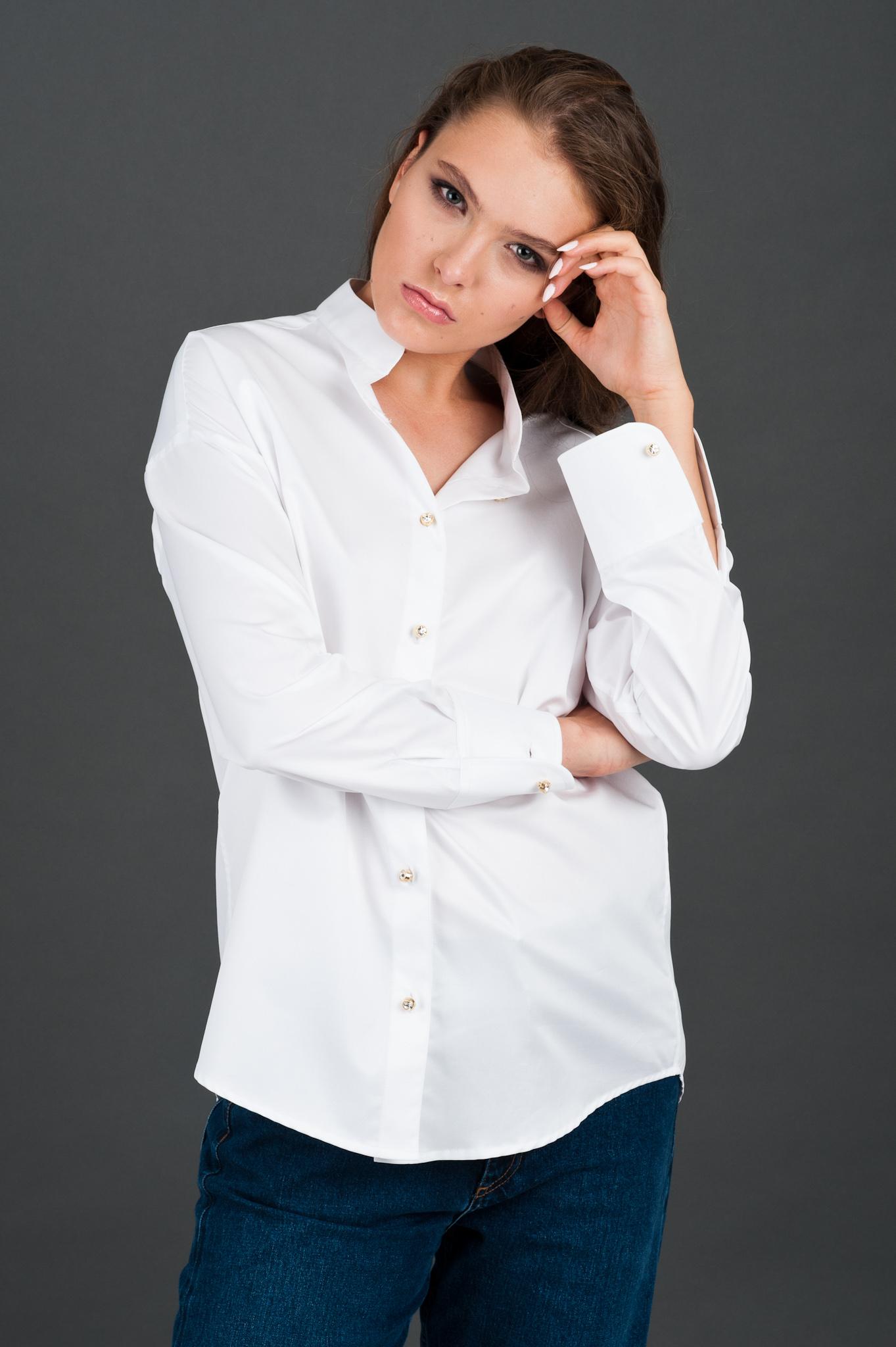 biała koszula ze stójką Vero