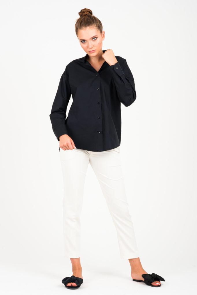 czarna koszula ze stójką Vero