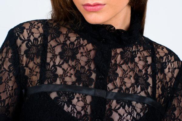 czarna sukienka czarna kornkowa