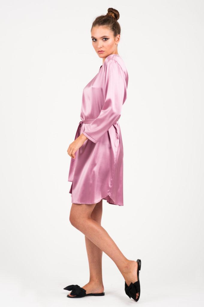 sukienka jedwabna florence różowa