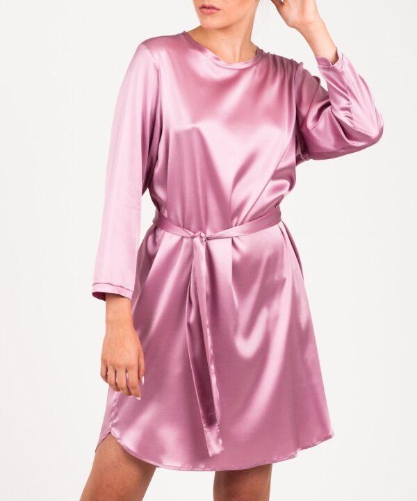 sukienka jedwabna różowa