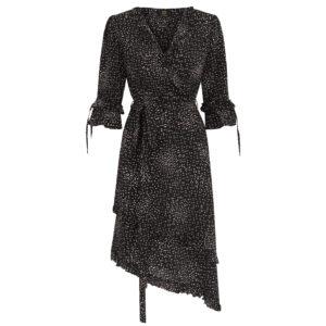 sukienka jedwabna w delikatny wzór