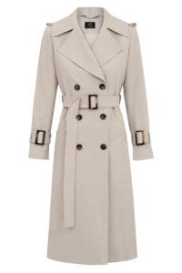 płaszcz trencz beżowy Entelier sklep internetowy
