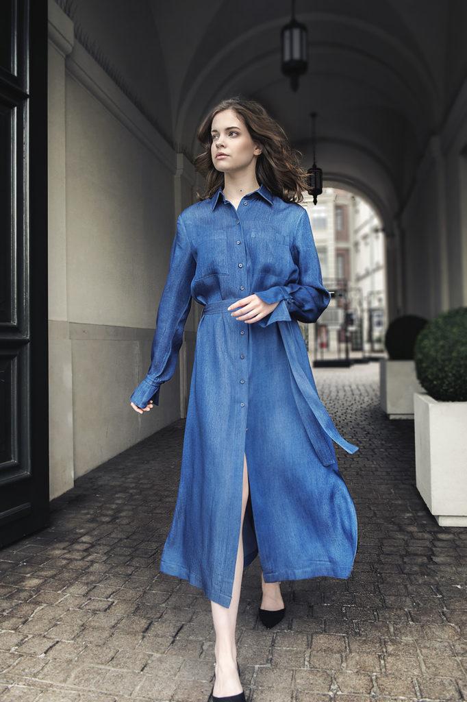 blue sky sukienka koszulowa niebieska