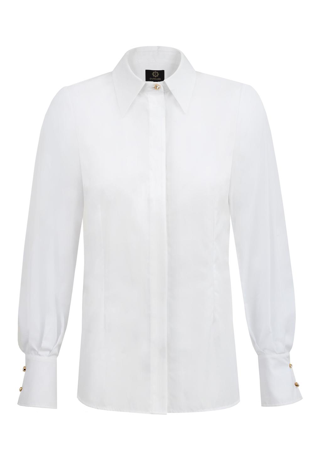 koszula biała z listwą
