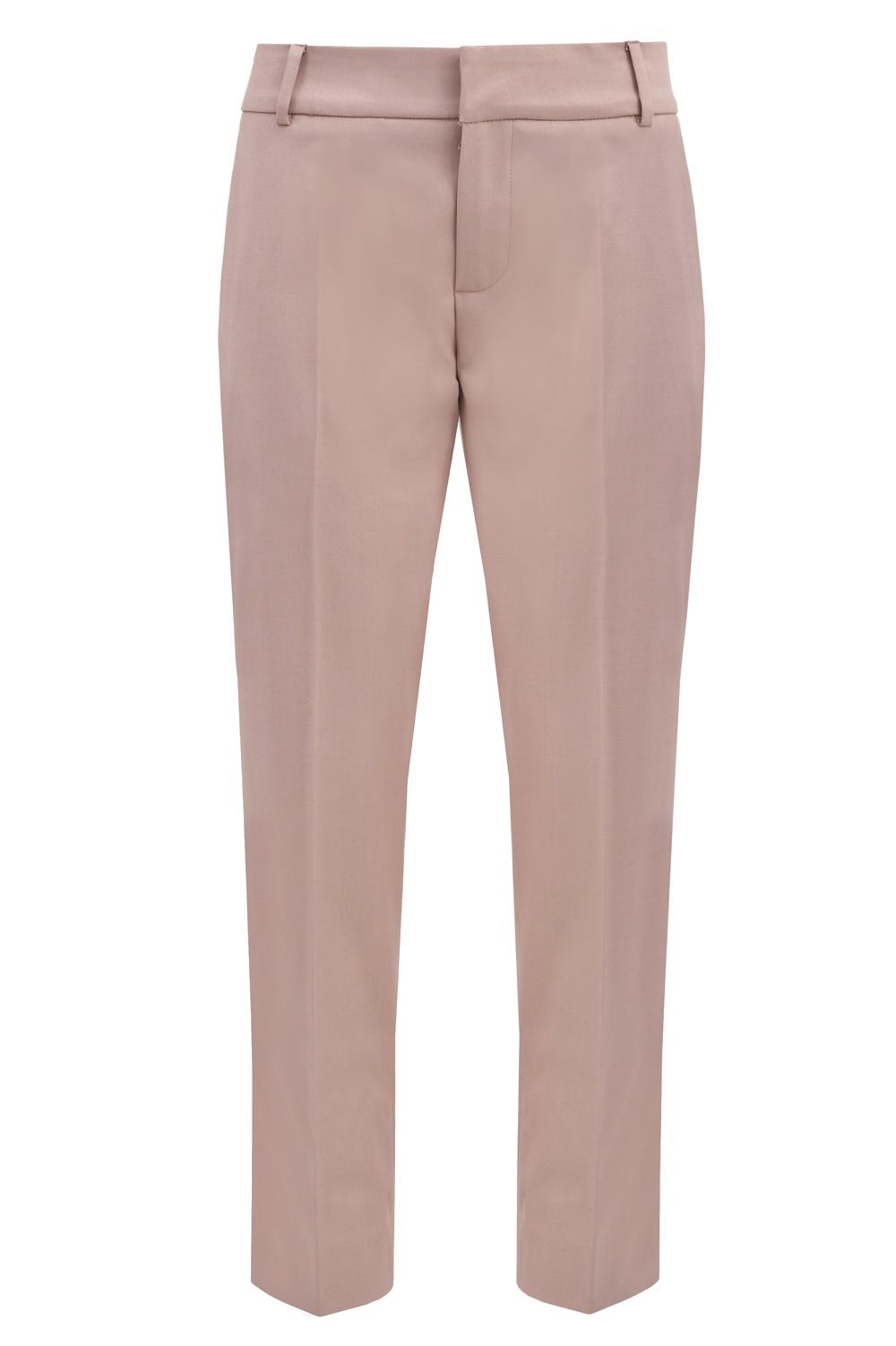 spodnie cygaretki brudny róż