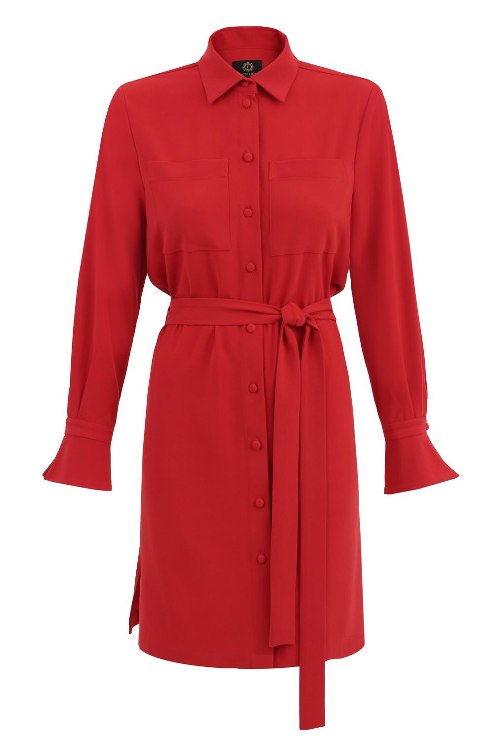 sukienka koszulowa czerwona
