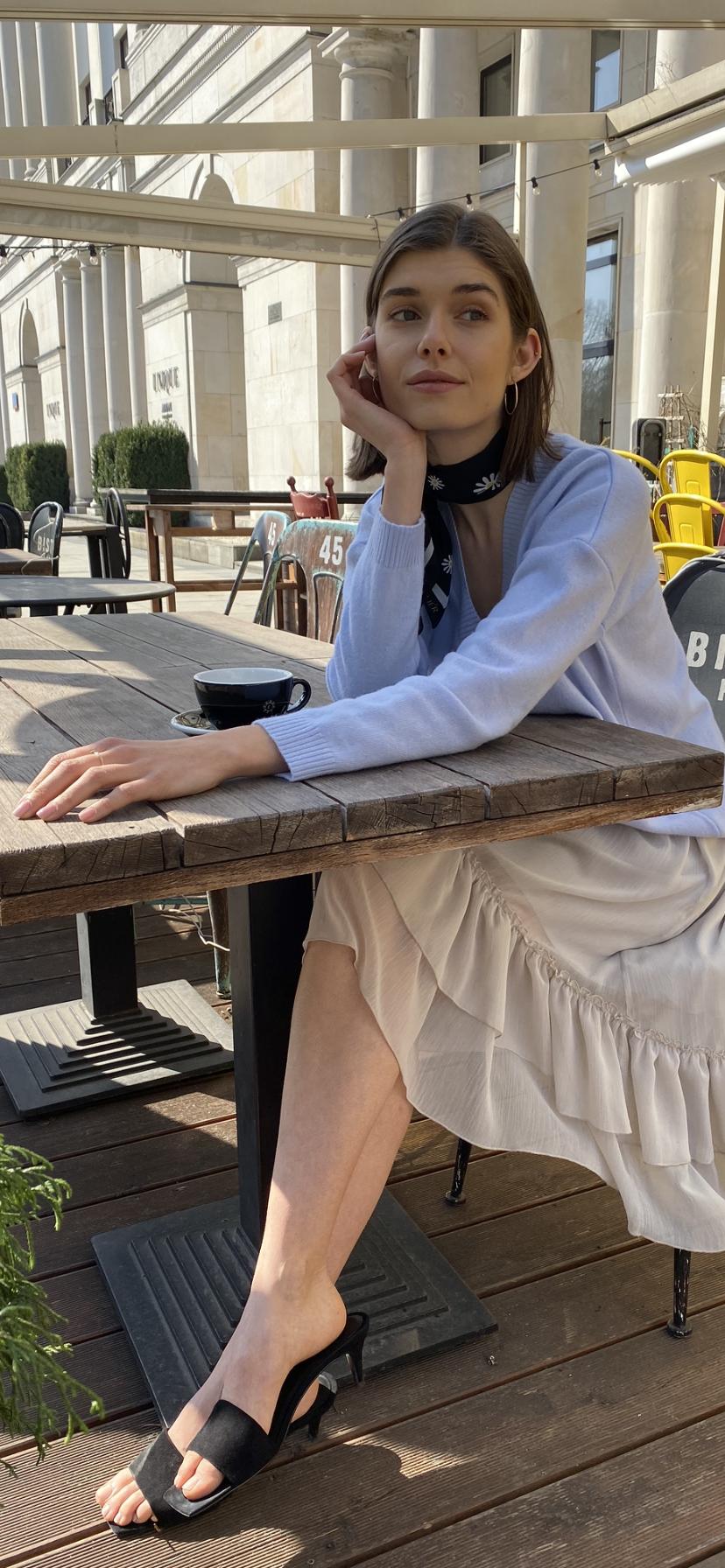 spódnica szyfonowa szara
