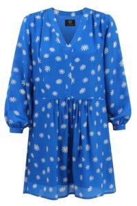 sukienka jedwabna daisy niebieska
