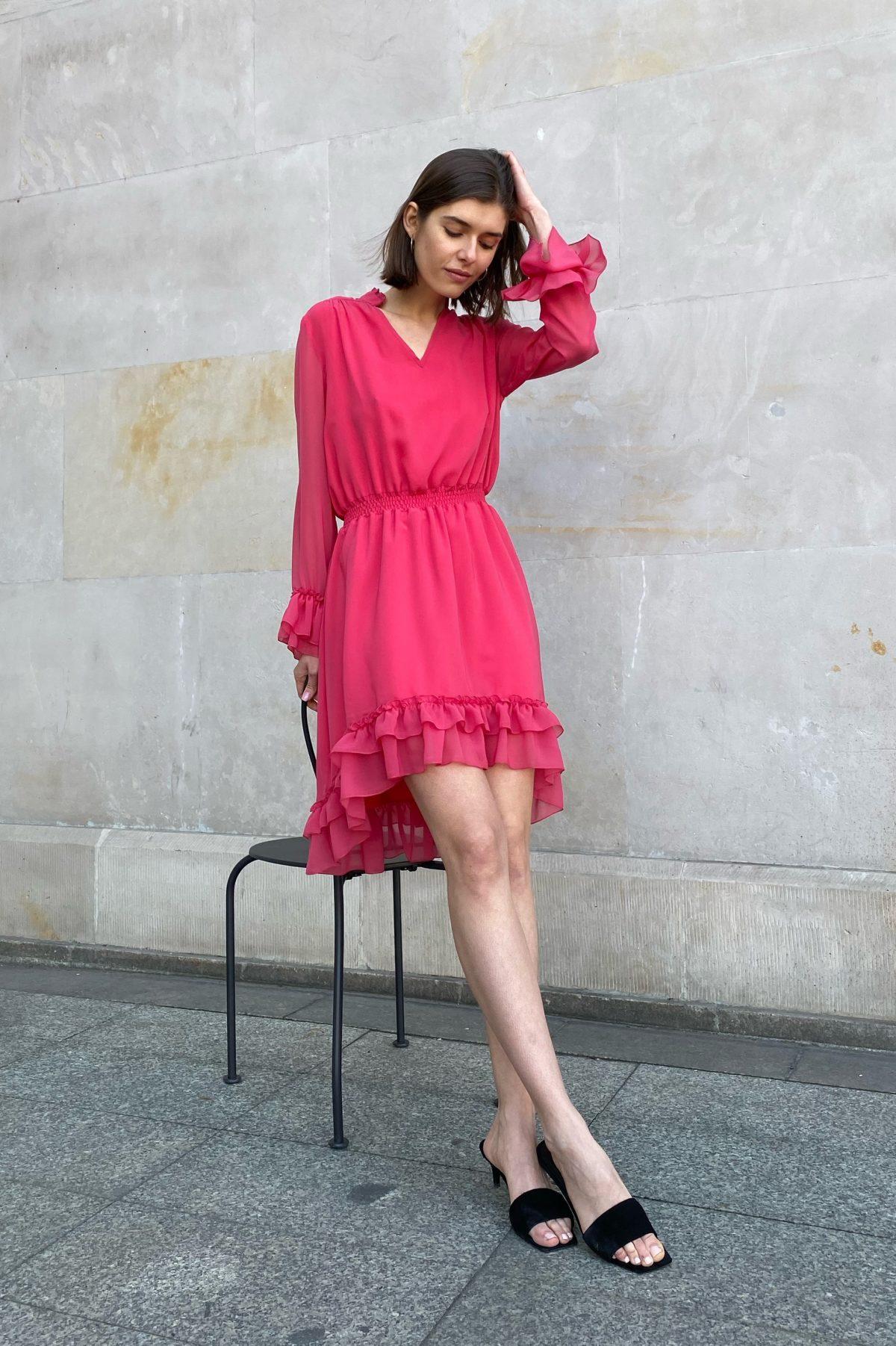 sukienka ines malinowa