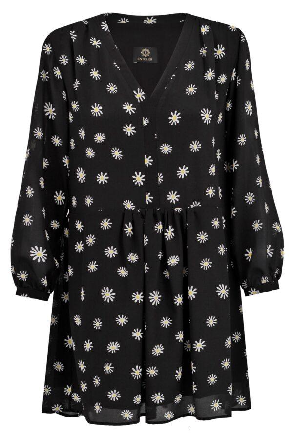 sukienka jedwabna daisy czarna