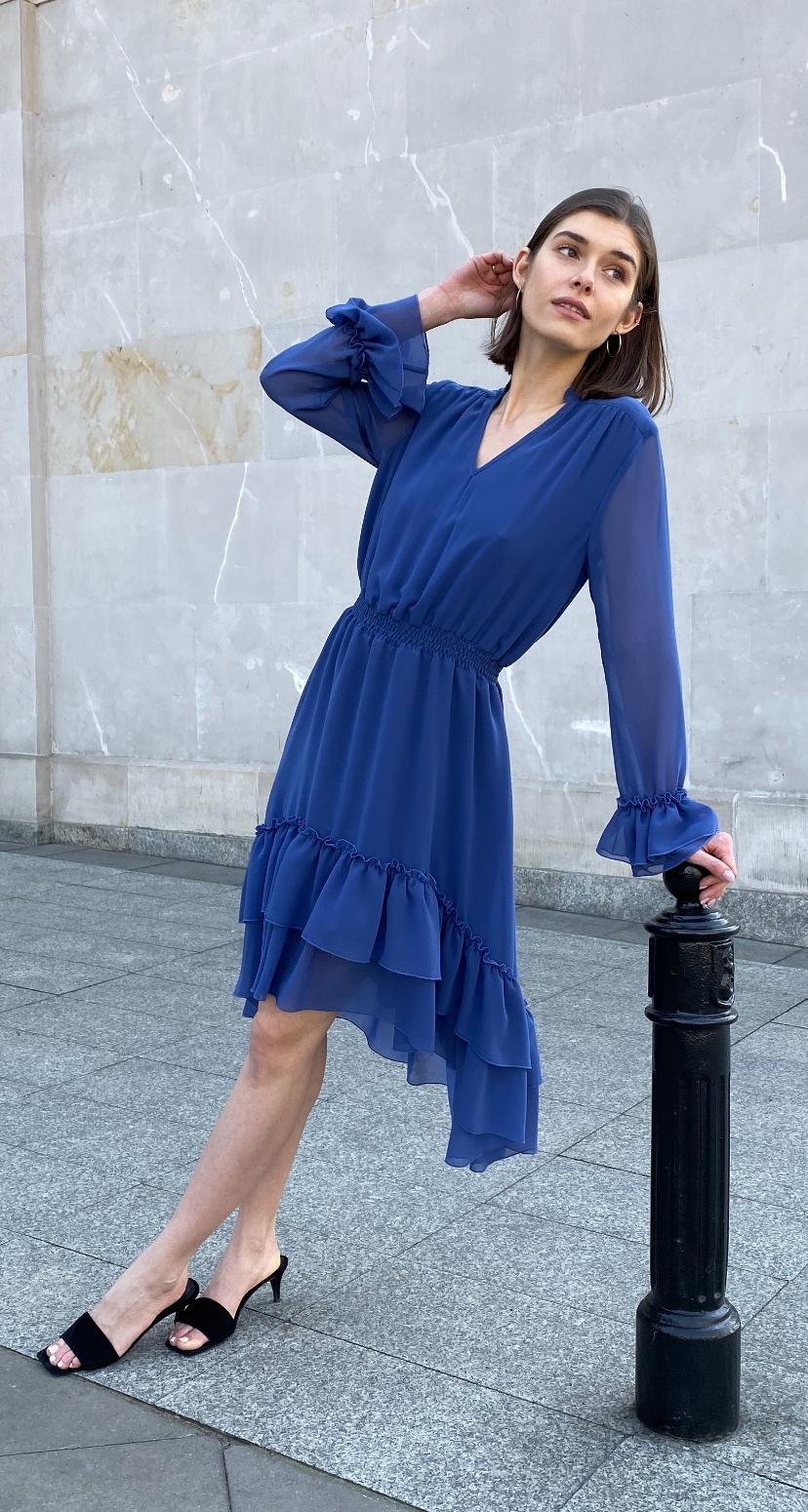 sukienka ines szafirowa