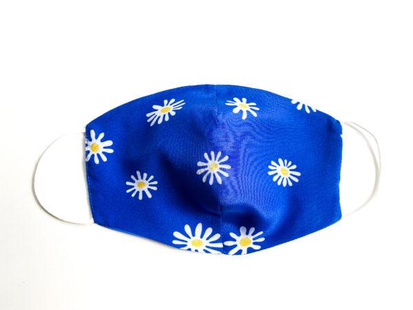 jedwabna maseczka niebieska