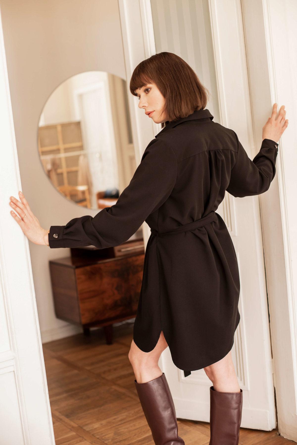 sukienka koszulowa Amelie czarna