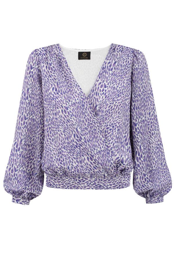 jedwabna bluzka Laurel szafir