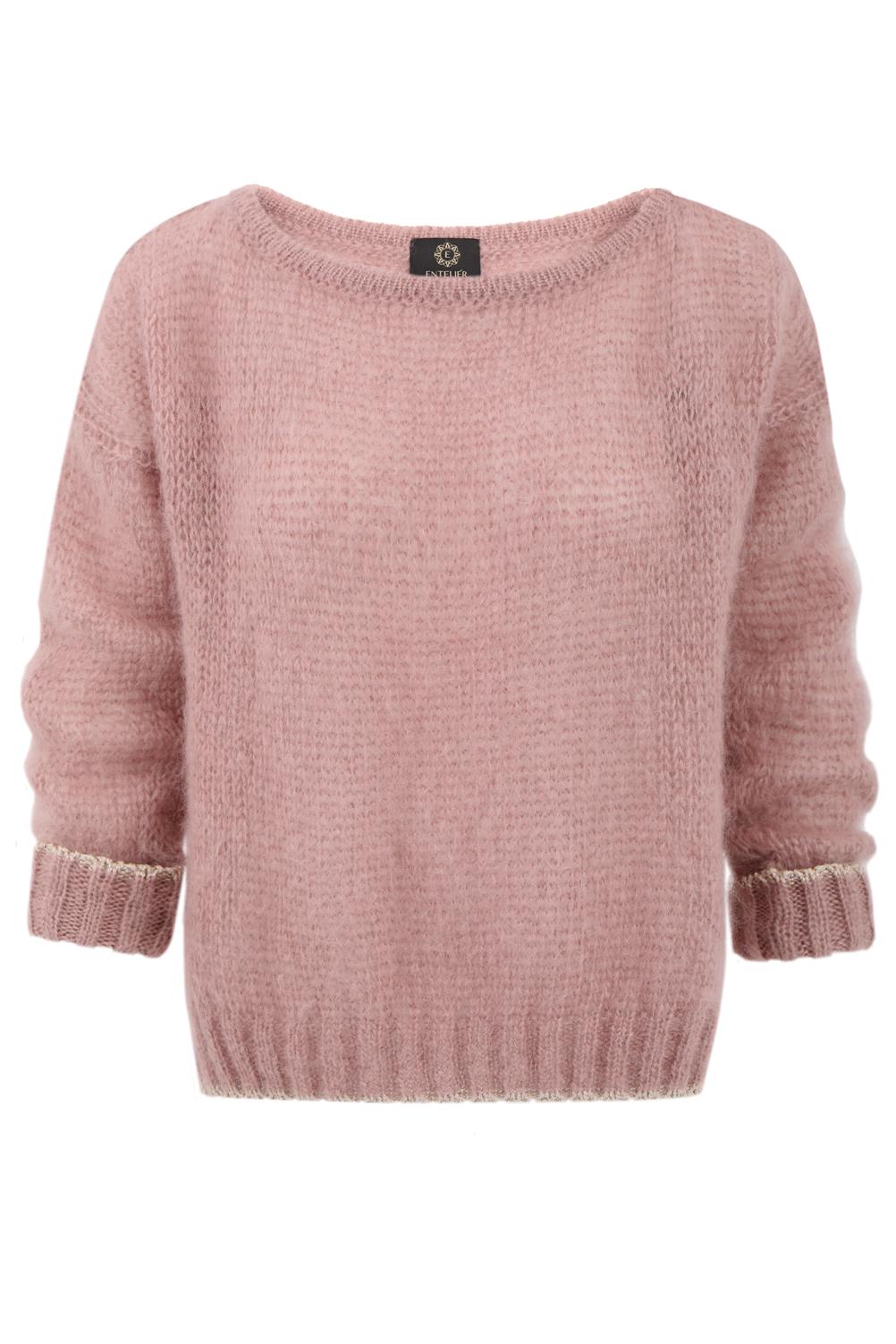 sweter moher brudny róż
