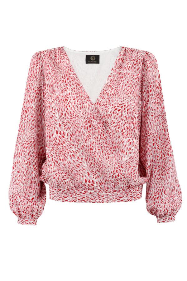 jedwabna bluzka laurel burgund