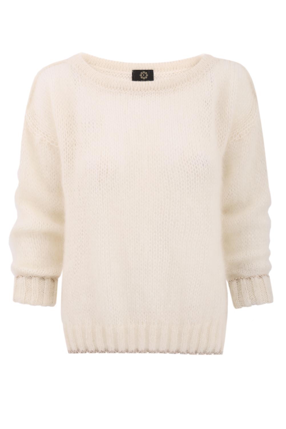 sweter moher ecru