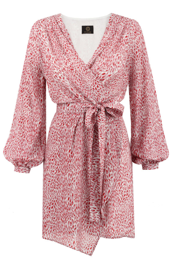 sukienka jedwabna laurel burgund