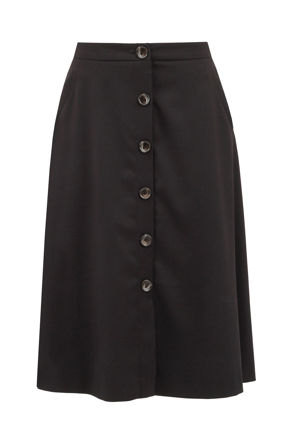 spódnica na guziki czarna