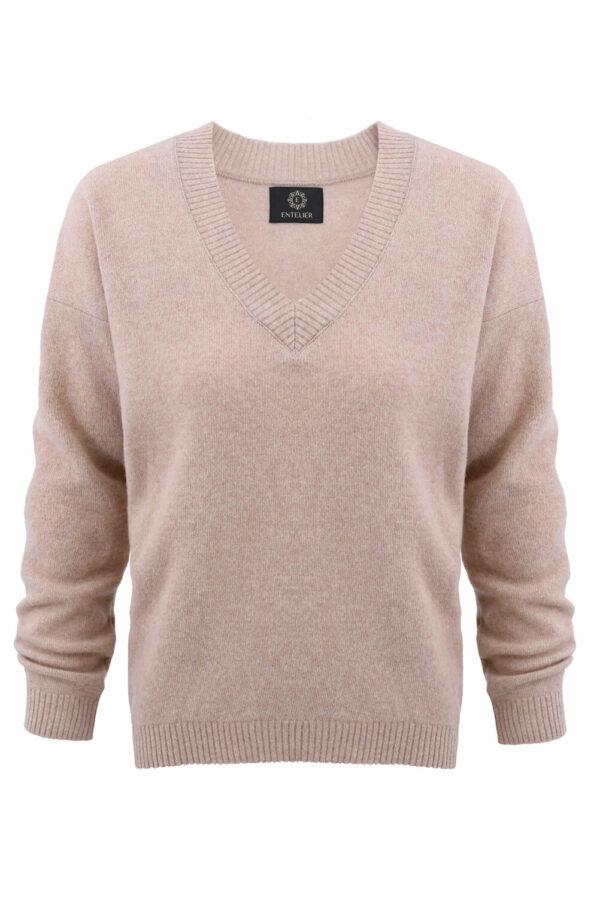sweter kaszmir beżowy