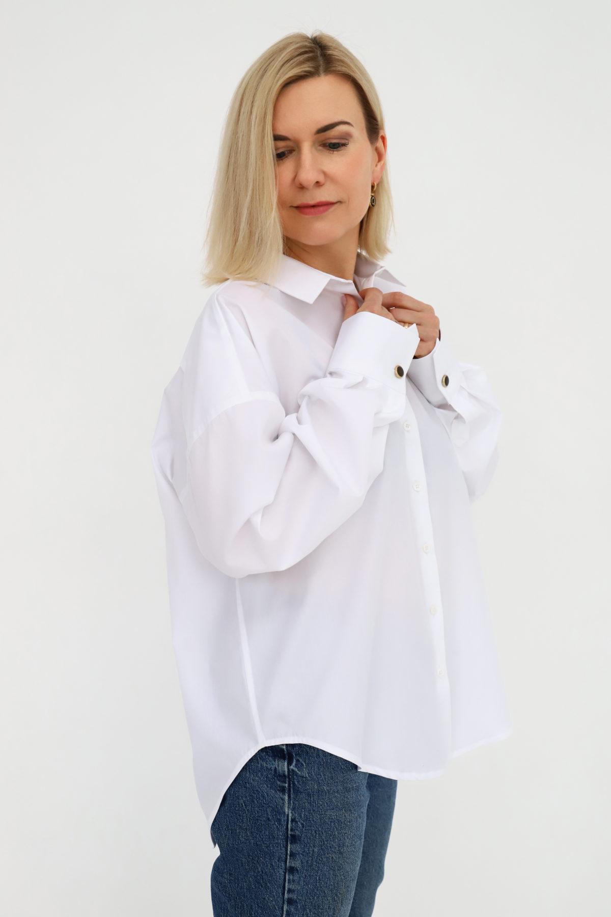 koszula biała classic oversize