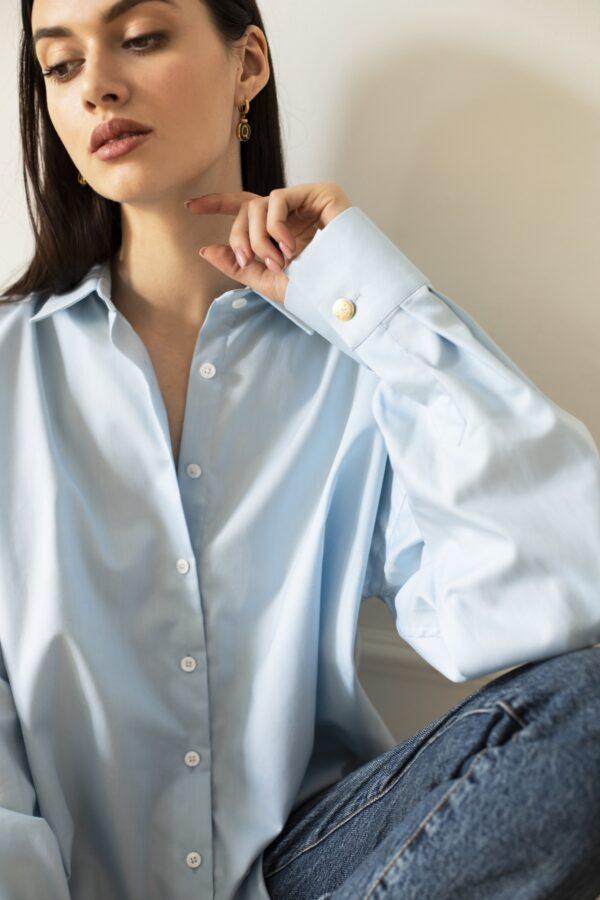 koszula classic oversize błękitna
