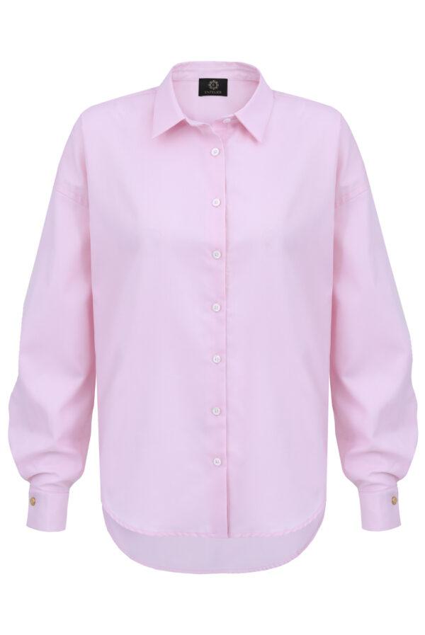 koszula oversize classic różowa
