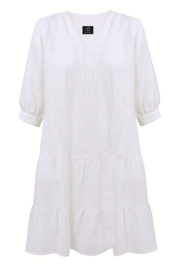 sukienka lniana white jasmine