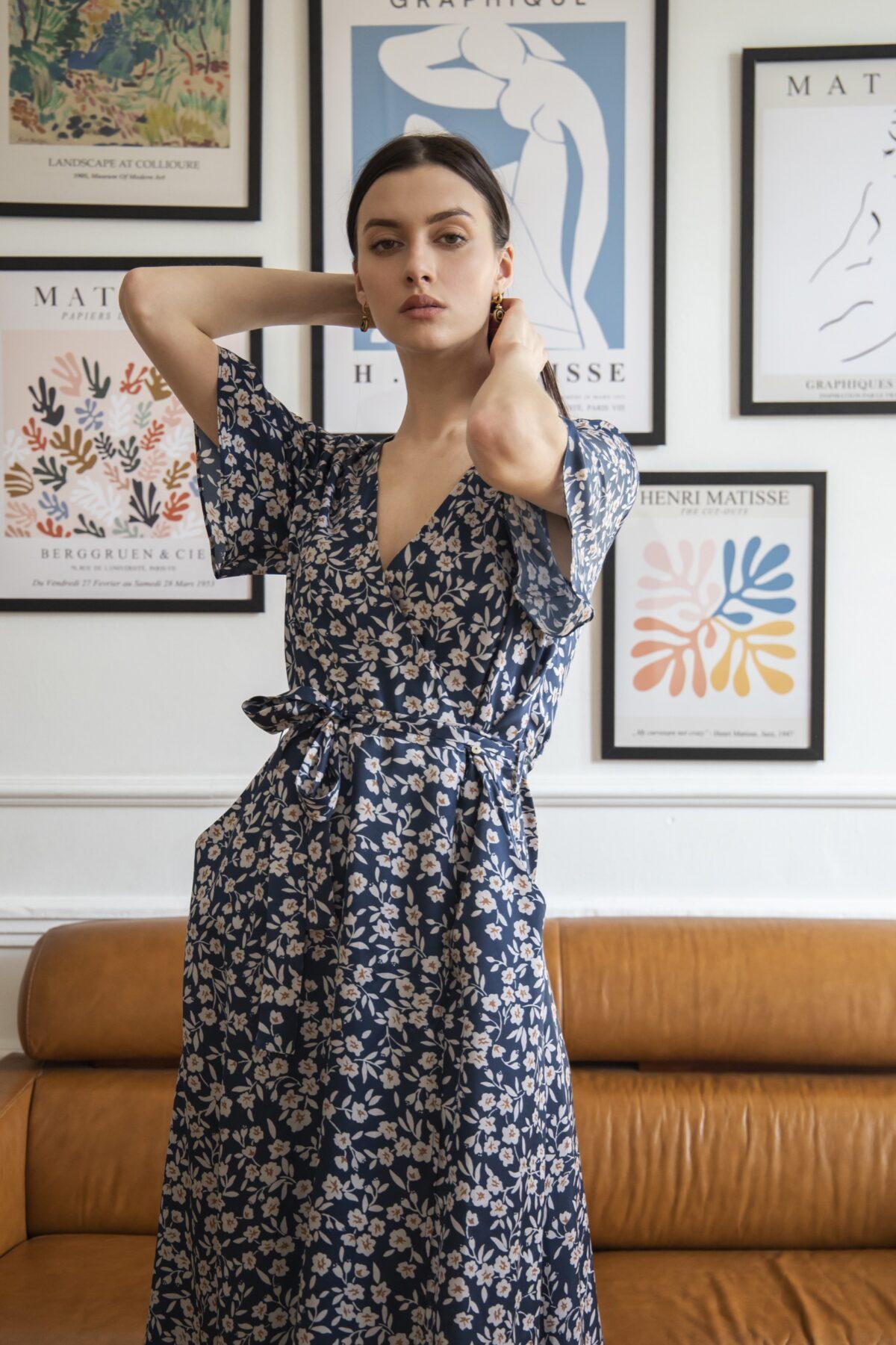 sukienka kopertowa Fleur entelier
