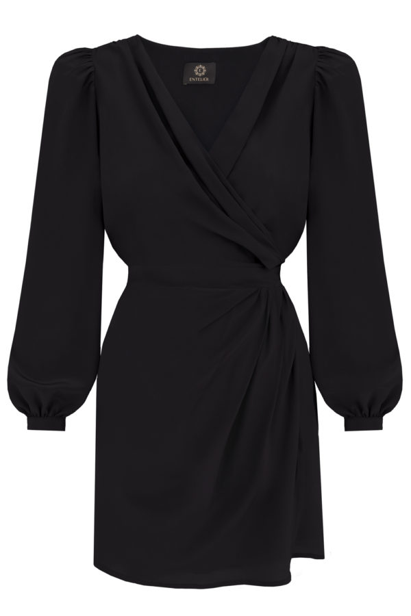 sukienka jedwabna czarna entelier