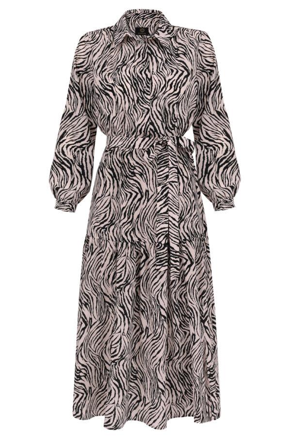 sukienka jedwabna zebra