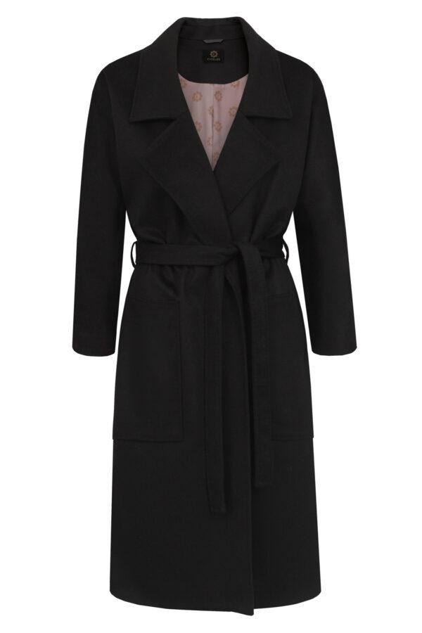 płaszcz kaszmir czarny