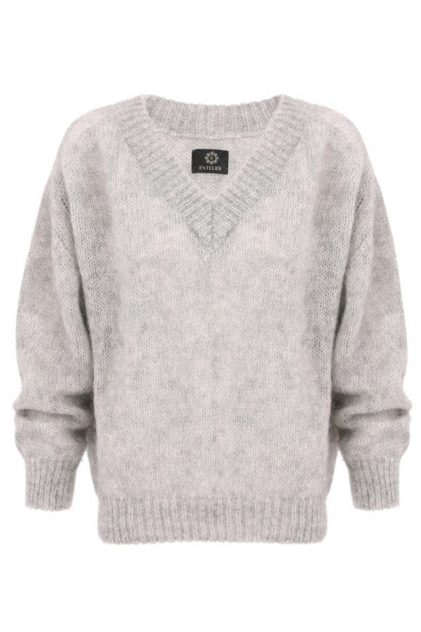 sweter moher szary